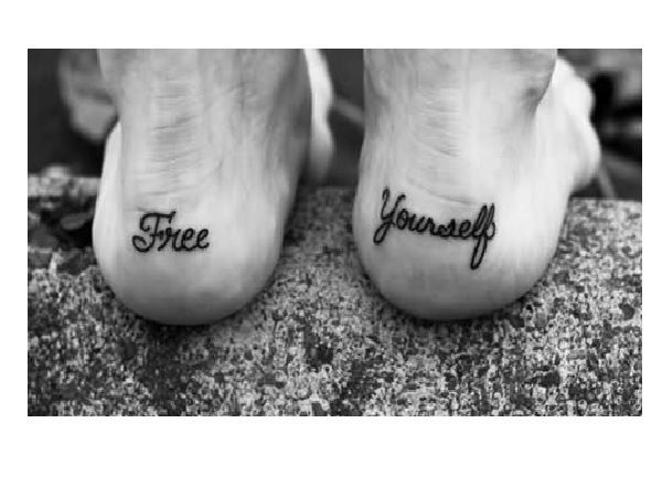Free Yourself Heel Tattoo
