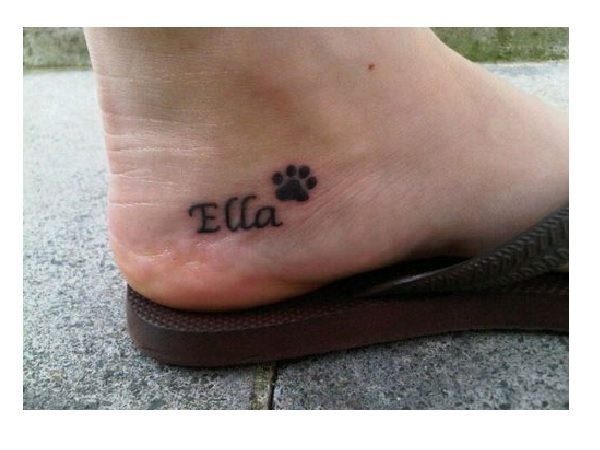 Ella and Paw Heel Tattoo
