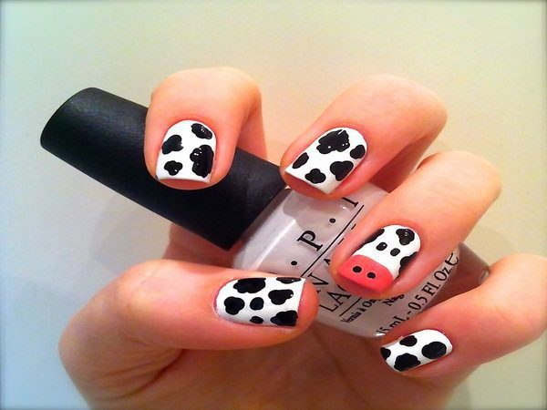 Cow Colored Animal Nails