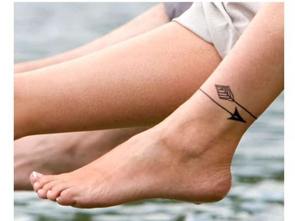 Arrow Wrap Around Ankle Tattoo