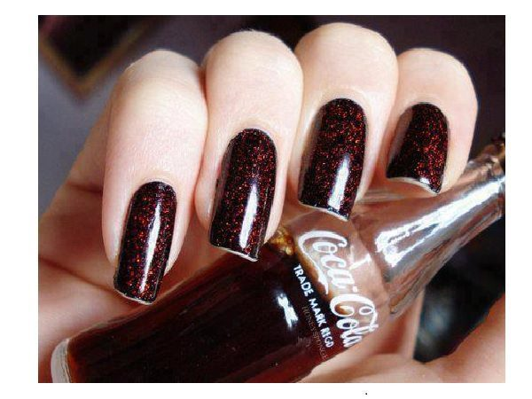 10 crazy coca cola nail designs bubbling coke brown nails prinsesfo Image collections