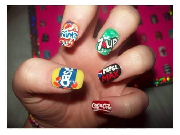 Soda Products Painted Nails