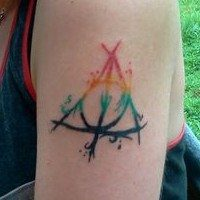 11 Awesome Deathly Hallows Tattoo Designs