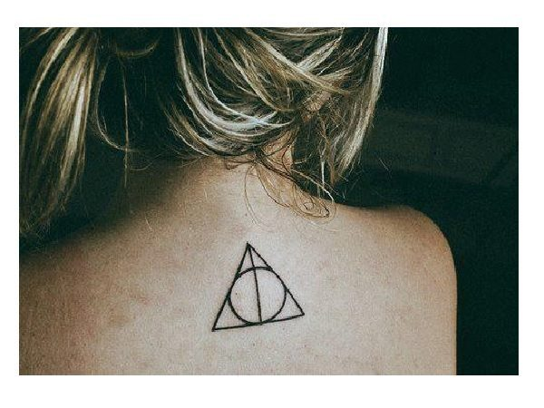 Deathly Hallows Back Tattoo
