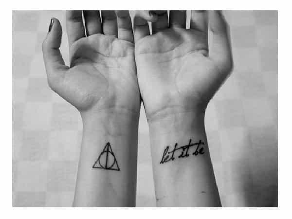 Deathly Hallows Inner Wrist Tattoo