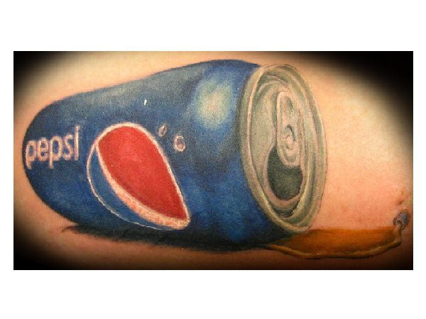 Spilled Pepsi Can Tattoo