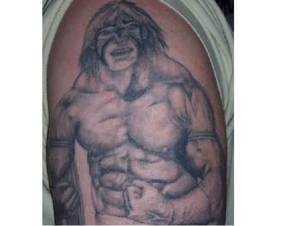 The Ultimate Warrior Black Ink Tattoo