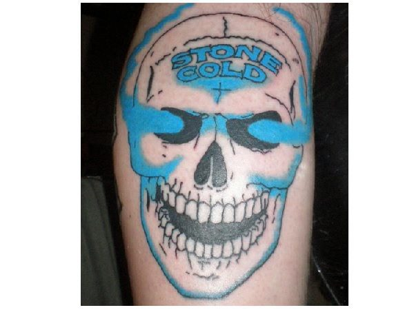 Stone Cold Smoking Skull Tattoo