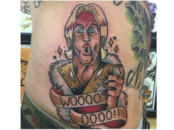 Cartoon Ric Flair Woo Tattoo