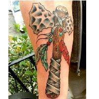 10 Totally Awesome  Tomahawk Tattoo Designs