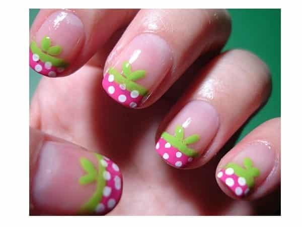 Strawberry French Manicured Nails