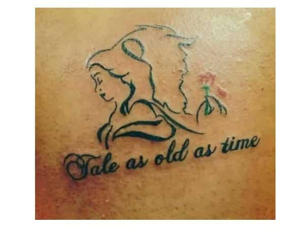 Tale as Old as Time Beauty and the Beast Tattoo