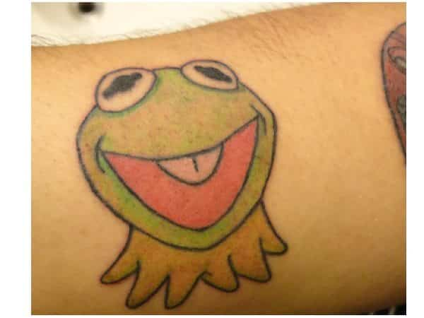 Kermit the Frog Colored Arm Tattoo