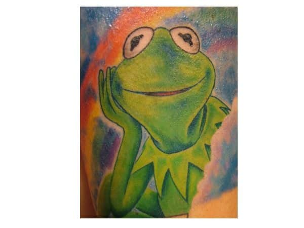 Kermit the Frog Rainbow Tattoo