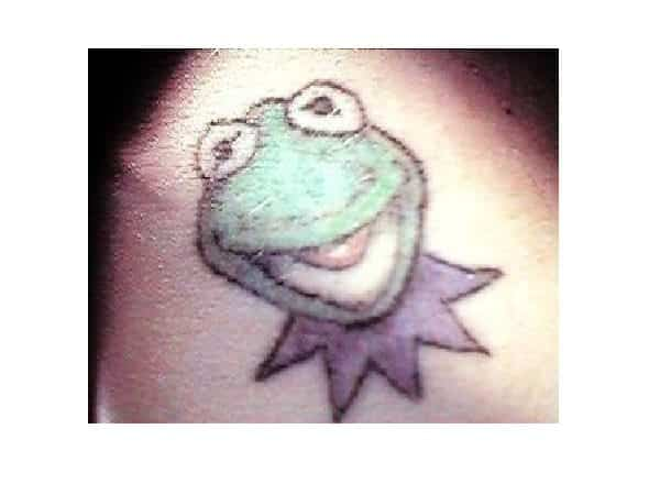 Kermit the Frog Head Tattoo