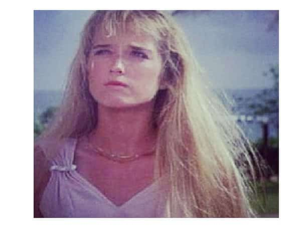 Kim Richards with Messy Long Blond Hair