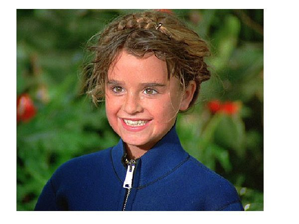 Young Kyle Richards with Light Brown Braided Hair