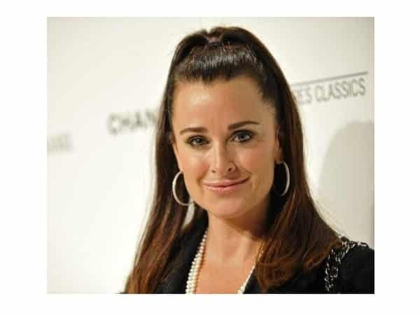 Kyle Richards with Pony Tail