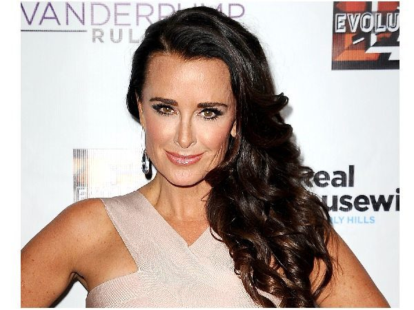 Kyle Richards with Curly Long Dark Hair
