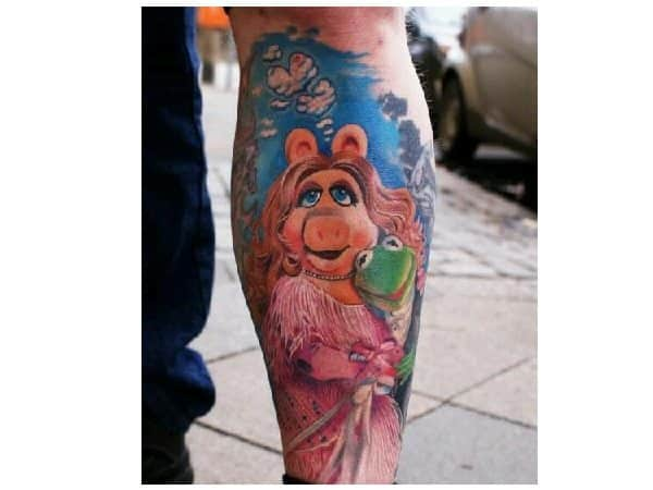 Miss Piggy and Kermit the Frog Formal Wear Tattoo
