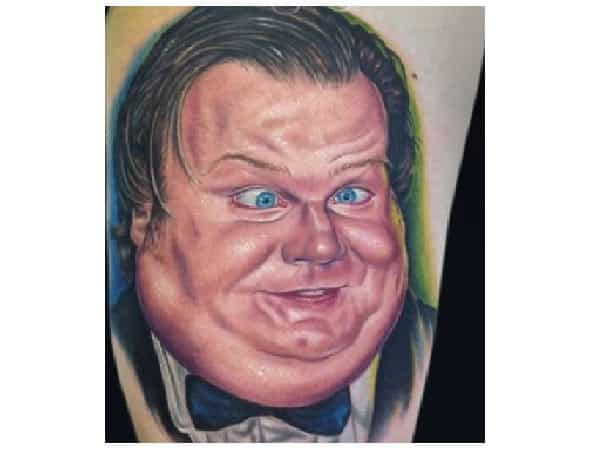 Chris Farley Colored Tattoo