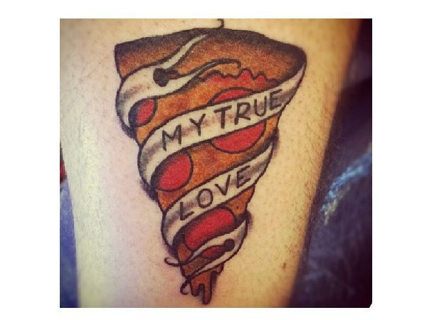 My True Love Pizza Tattoo