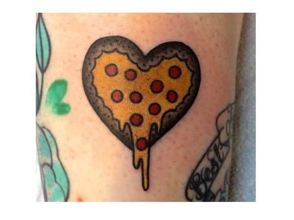Heart Shaped Pizza Tattoo