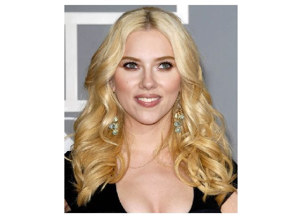 Scarlett Johansson Long Blond Curly Hair