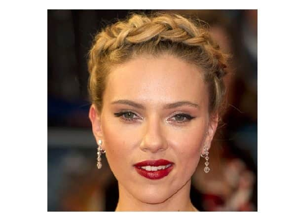 Scarlett Johansson Medium Brown Hair with Braid