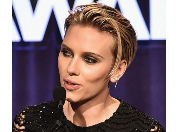 Scarlett Johansson Blond Short Punk Hairstyle