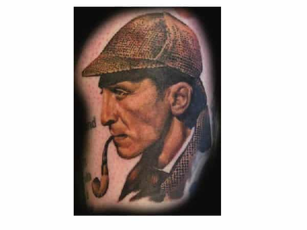 Sherlock Holmes Movie Colored Tattoo