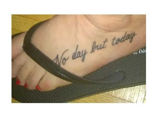 No Day But Today Wicked Tattoo