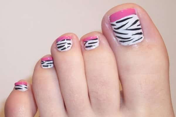 White Toes Designs Toe Nail Designs 1