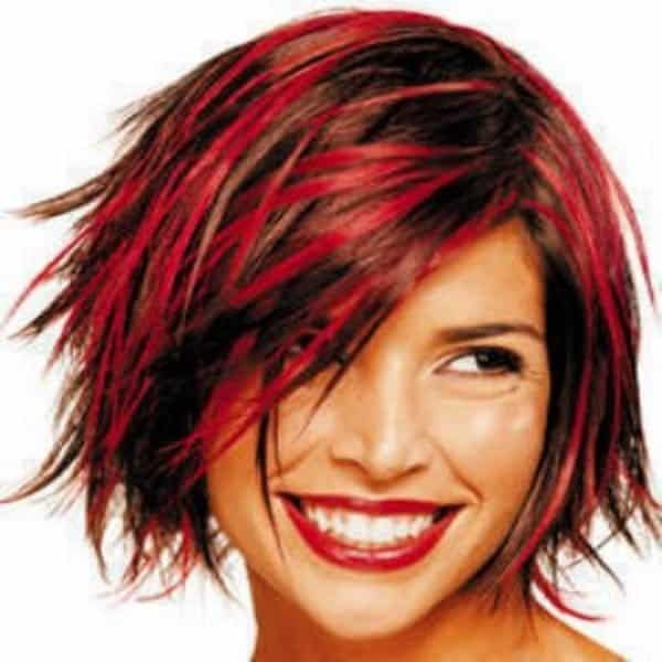 Short Black Hair With Red Tips Best Short Hair Styles