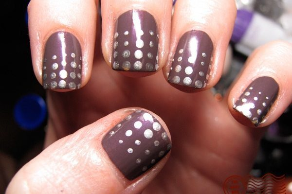 Дизайн темных ногтей 2016-2017 фото новинки