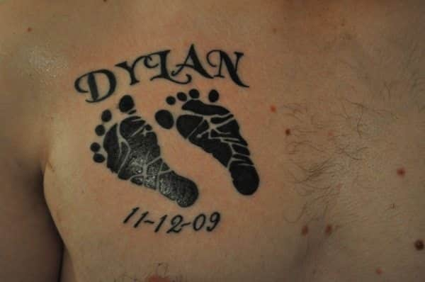 Baby Footprint Tattoo Ideas