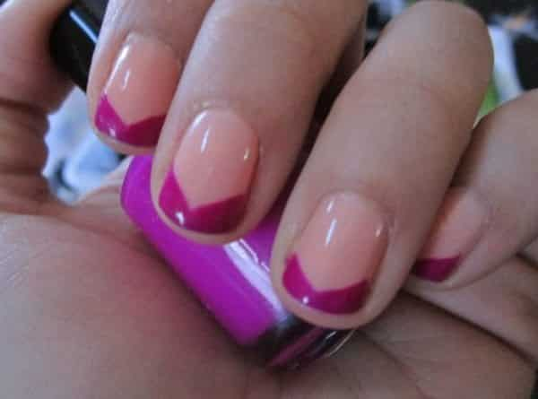 colored french tips