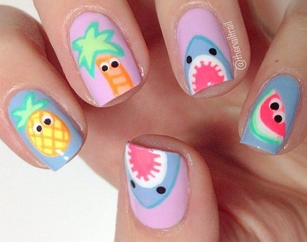 23 playful and cute nail art designs cute nail art prinsesfo Images