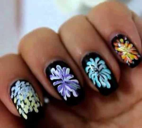 22 festive fireworks nail art ideas for july 4th fireworks nail art prinsesfo Gallery