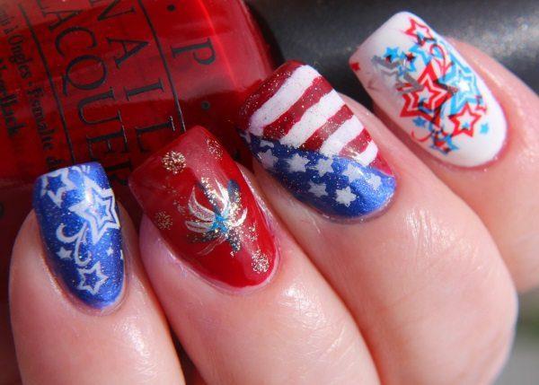 fireworks nail art
