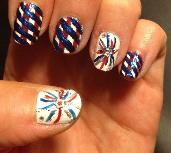 Best Friends Forever 22 Festive Fireworks Nail Art Ideas For July 4th