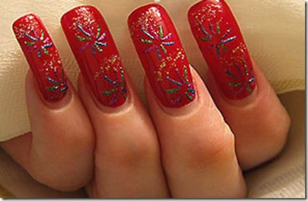 22 festive fireworks nail art ideas for july 4th fireworks nail art prinsesfo Image collections