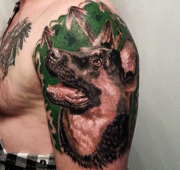 Best friends forever 11 gorgeous german shepherd tattoo designs german shepherd tattoo design ideas publicscrutiny Image collections