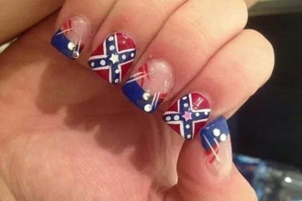 12 southern pride rebel flag nails rebel flag nails prinsesfo Image collections
