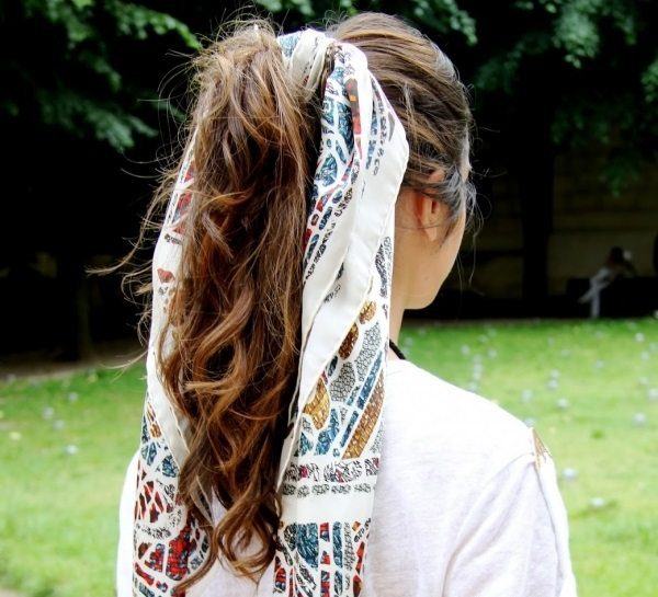 scarf in hair