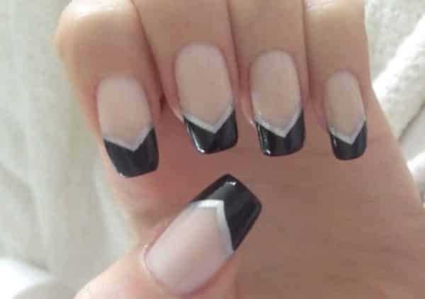 v shaped nail art designs - Nail Tip Designs Ideas