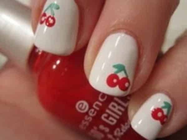 - 16 Sweet Cherry Nail Art Designs
