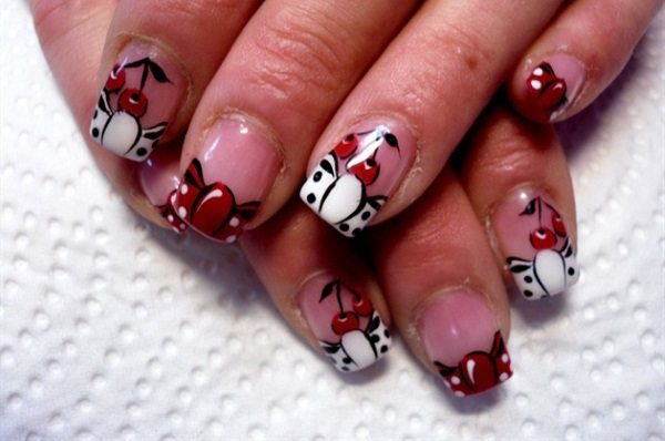 Cherry Nail Art Designs 2016 Ideas Images Tutorial Step By Flowers Pics Photos Wallpapers