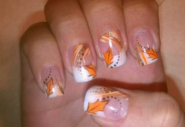 17 Fantastic Fall Leaves Nail Art Designs