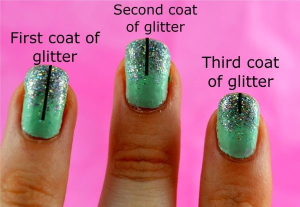 16 Perfectly Glam Glitter Gradient Nail Art Designs